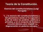 Teor a de la Constituci n.