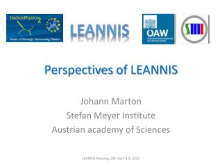 Perspectives of  LEANNIS