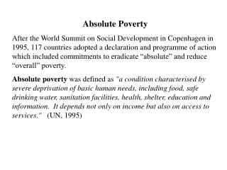 Absolute Poverty