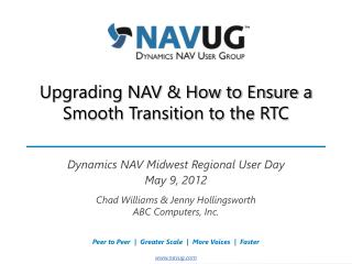 Upgrading NAV & How to Ensure a Smooth Transition to the RTC
