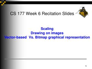 CS 177 Week 6 Recitation Slides