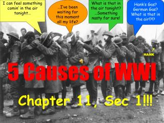 5 Causes of WWI
