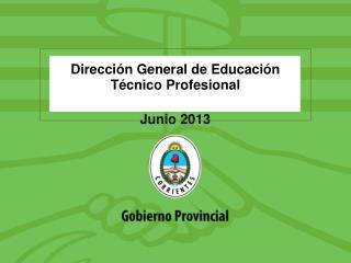 Direcci�n General de Educaci�n T�cnico Profesional Junio  2013