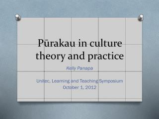 Pūrakau  in culture theory and practice