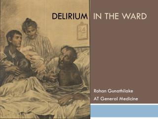 Delirium   in the ward