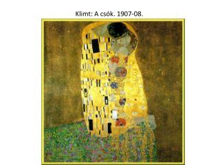 Klimt: A csók. 1907-08.