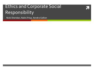 Ethics and Corporate Social Responsibility