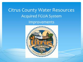 Citrus County Water Resources