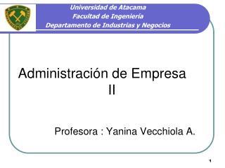 Administración de Empresa II