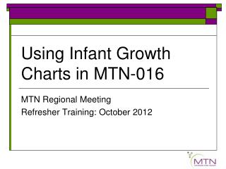Using Infant Growth Charts in MTN-016