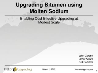 Upgrading Bitumen using Molten Sodium