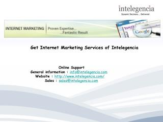 Get Internet Marketing Services of Intelegencia