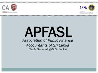 Association of Public Finance Accountants of Sri Lanka  (Public Sector wing CA Sri Lanka)