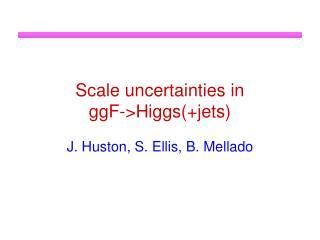 Scale uncertainties in  ggF ->Higgs(+jets)