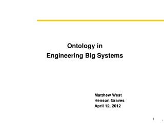 Ontology in Engineering Big Systems