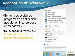 Accesorios de Windows 7