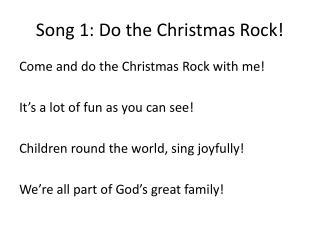 Song 1: Do the Christmas Rock!