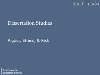 Dissertation Studies