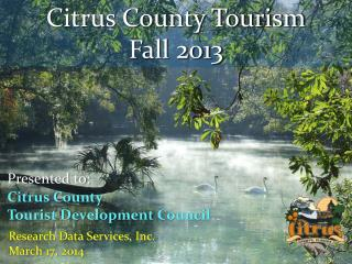 Citrus County Tourism Fall 2013