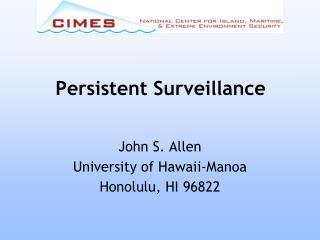 Persistent Surveillance