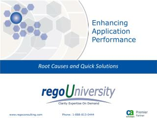 Enhancing Application Performance
