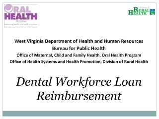 West Virginia Department of Health and Human Resources Bureau for Public  Health