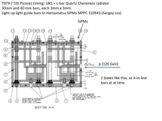 T979 (~10)  Picosec  timing: LBQ = L-bar Quartz Cherenkov radiator