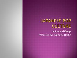 Japanese Pop culture