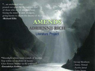 Amends Adrienne Rich
