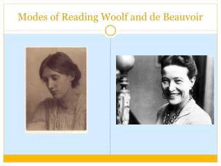 Modes of Reading Woolf and de Beauvoir