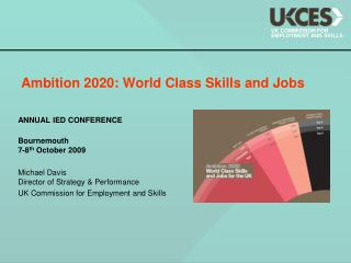 Ambition 2020: World Class Skills and Jobs