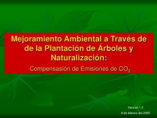 Mejoramiento Ambiental a Trav s de de la Plantaci n de  rboles y Naturalizaci n:  Compensasi n de Emisiones de CO2