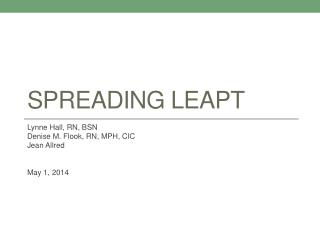 Spreading leapt