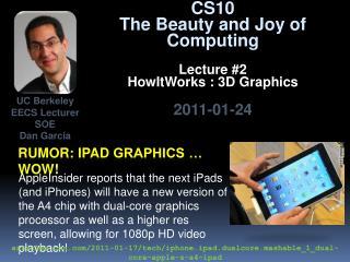 Rumor:  ipad  graphics … wow!