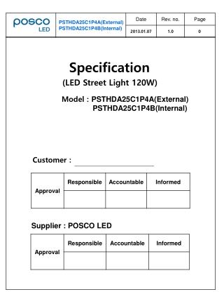 Model : PSTHDA25C1P4A(External)                PSTHDA25C1P4B(Internal)