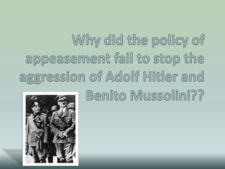 What is appeasement?