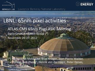 LBNL: 65nm pixel activities