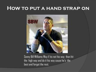 How to put a hand strap on