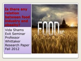 Is there any relation between food industry and obesity?