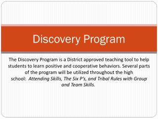 Discovery Program
