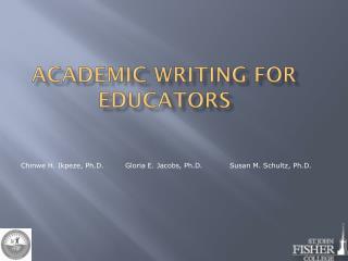 Academic Writing for Educators