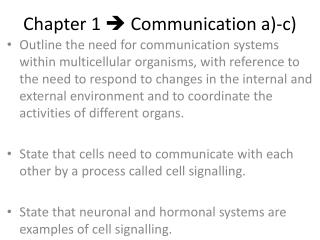 Chapter 1    Communication a)-c)