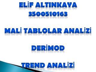 ELİF ALTINKAYA 3500510163 MALİ TABLOLAR ANALİZİ DERİMOD TREND ANALİZİ