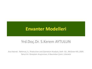 Envanter Modelleri