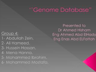 ''Genome Database""