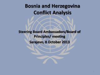 Bosnia and Herzegovina Conflict Analysis