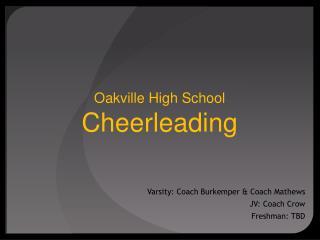 Oakville High School Cheerleading