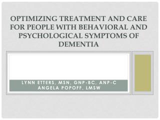 Lynn Etters, MSN, GNP-BC, ANP-C Angela  Popoff , LMSW
