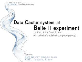 Belle II experiment Requirement of data handling system Belle  II  Metadata  service system