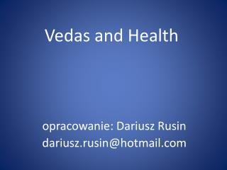 Vedas  and  Health